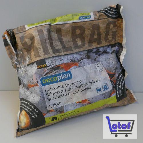 Holzkohle-Briquettes Oecoplan Coop
