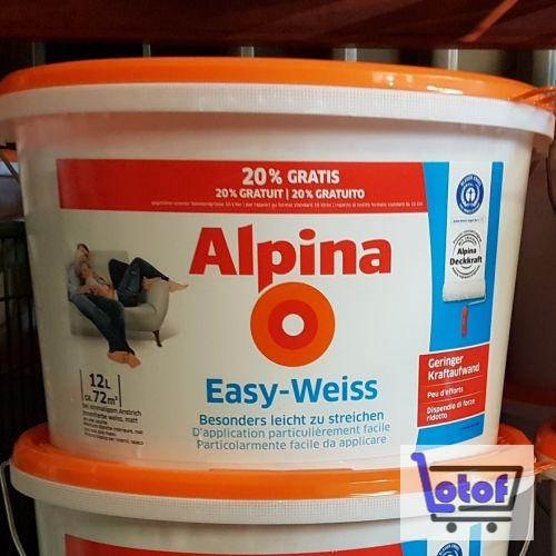 Innenfarbe Alpina EasyWeiss 12 L