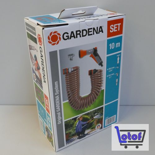 Gardena Spiralschlauchset 10m mit Brause